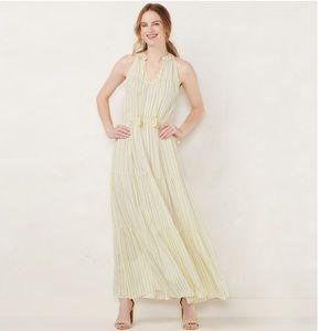 LC Lauren Conrad yellow maxi dress